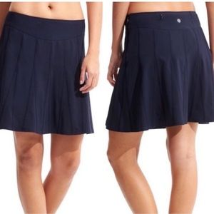 Athleta Pleated Navy Skort